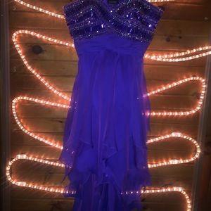 Purple Le Chateau prom dress